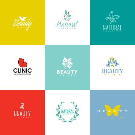 Illustration pour Set of modern beauty and nature logo templates and icons - image libre de droit