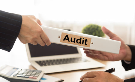 Photo for Auditor sends file audited financial statements of the Company to executives. - Royalty Free Image