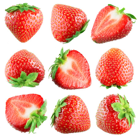 Foto de Strawberry  Fruits on white  Collection - Imagen libre de derechos