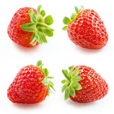 Foto de Strawberry  Collection isolated on white - Imagen libre de derechos