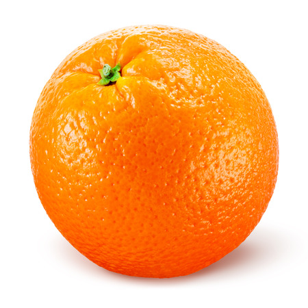 Photo for Orange fruit isolated on white - Royalty Free Image