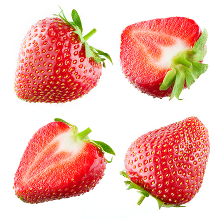 Photo for Strawberry. Collection isolated on white - Royalty Free Image
