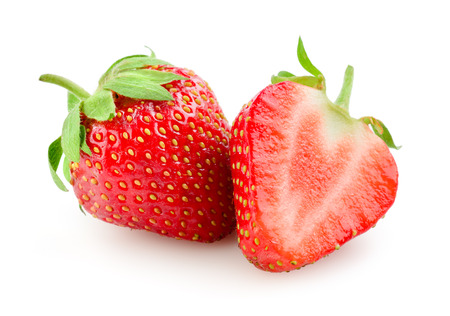 Photo pour Strawberry isolated on white - image libre de droit