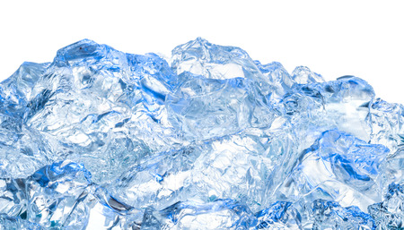 Photo for Ice. Blue background - Royalty Free Image