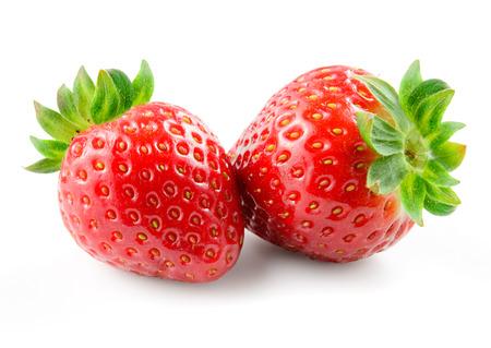 Foto de Strawberry isolated on white background. - Imagen libre de derechos