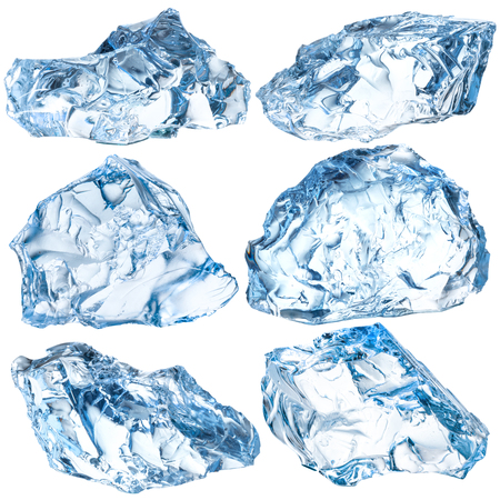 Photo for Pieces of ice isolated on white background. With clipping path - Royalty Free Image