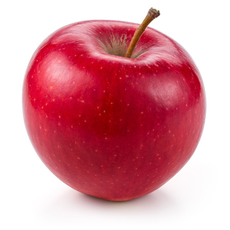 Foto de Fresh red apple isolated on white. With clipping path - Imagen libre de derechos