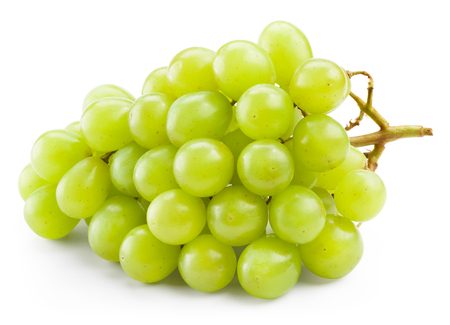 Photo pour Green grape isolated on white background - image libre de droit