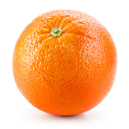 Photo pour Orange fruit isolated on white - image libre de droit