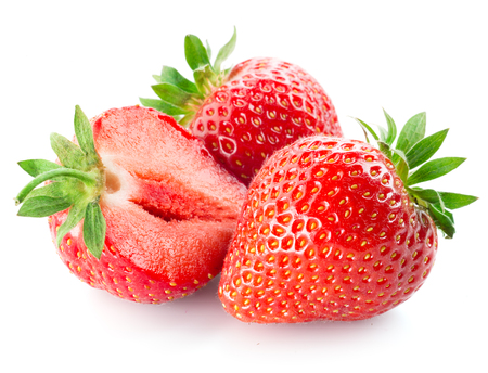 Photo for Fresh strawberry isolated on white background - Royalty Free Image