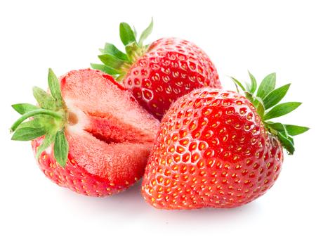 Foto de Fresh strawberry isolated on white background - Imagen libre de derechos