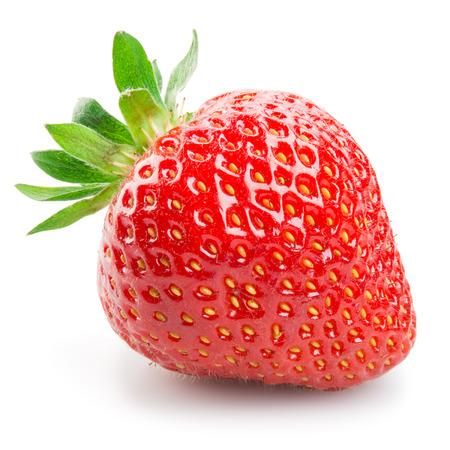 Photo for Fresh strawberry isolated on white background - Royalty Free Image