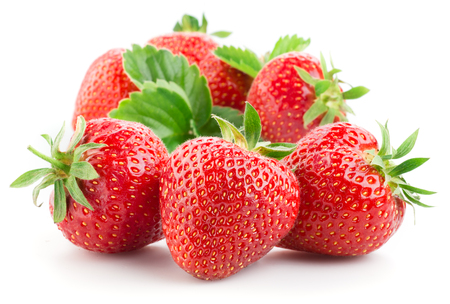 Foto de Strawberries isolated on a white background. - Imagen libre de derechos