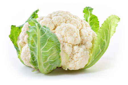 Photo pour Cauliflower isolated on white background - image libre de droit