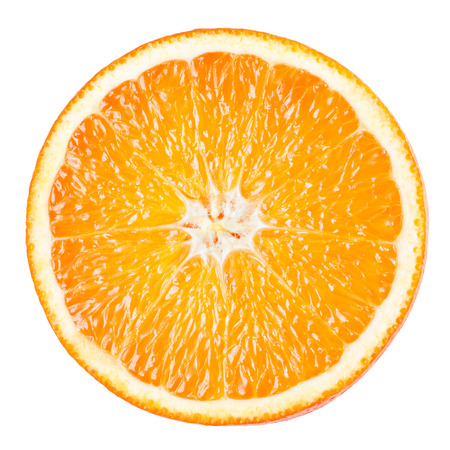 Photo pour Orange slice isolated on white background - image libre de droit