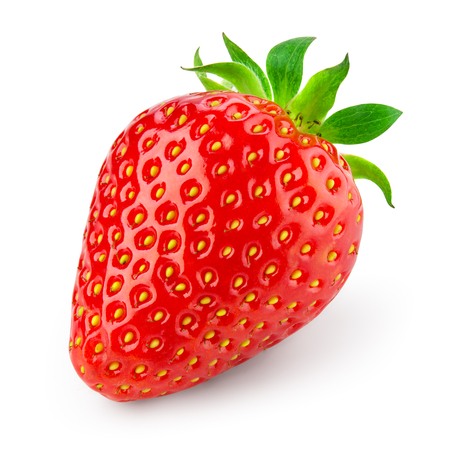 Foto de Strawberry isolated. Strawberry on white background. With clipping path. - Imagen libre de derechos