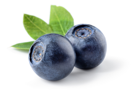 Photo for Blueberry isolated. Blueberries on white. With clipping path. - Royalty Free Image