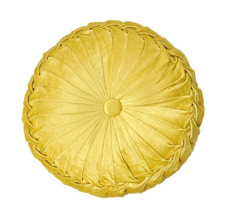 Photo pour Yellow round pillow - image libre de droit