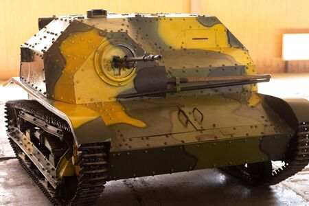 Foto de Polish TKS Light Panzer. A small caterpillar-tracked armored vehicle. Cuban armored Museum. - Imagen libre de derechos