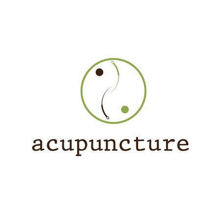 Illustration pour acupuncture vector design template - image libre de droit