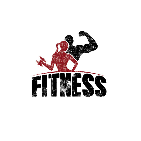 Photo for gunge man and woman of fitness silhouette character vector design template - Royalty Free Image