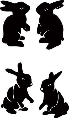 Set of chocolate bunnies