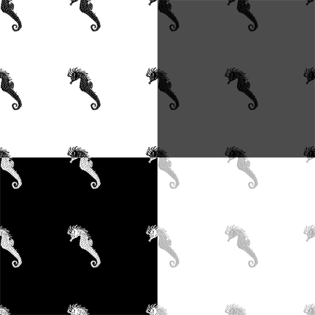 Illustration pour Seamless pattern with seahorses - image libre de droit