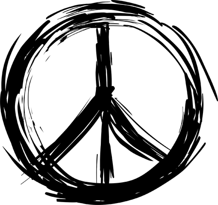 Illustration for Peace symbol - Royalty Free Image
