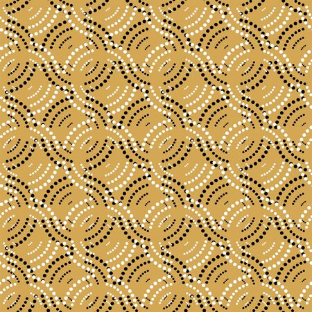 Illustration pour Seamless geometric pattern with dots - image libre de droit