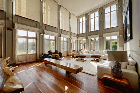 Photo pour Living room interior in modern house. - image libre de droit