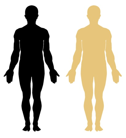 Foto de Silhouette of human. Male - Imagen libre de derechos