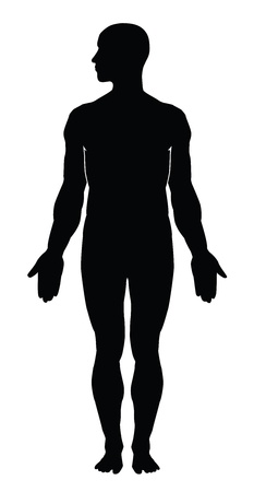 Photo for Human body silhouette - Royalty Free Image