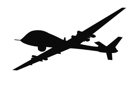 Foto per Drone flying vector silhouette. EPS 8 - Immagine Royalty Free