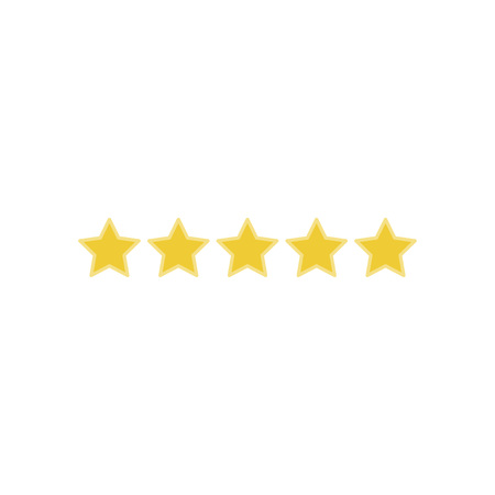 Ilustración de Icon 5 star rating. Flat vector illustration EPS 10. - Imagen libre de derechos