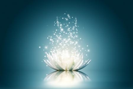 Photo for Magic Lotus flower - Royalty Free Image