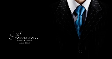 Photo pour businessman in a luxury suit  - image libre de droit