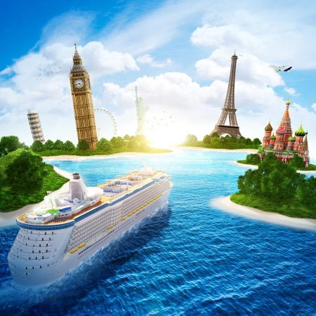 Photo pour Sea cruise by Europe and countries of the world  - image libre de droit