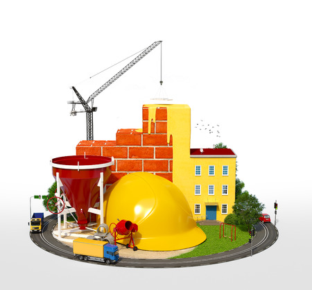 Photo for Construction Site.  Concept of construction of buildings - Royalty Free Image
