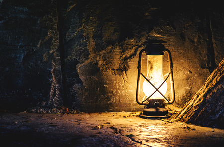 Photo for Old lamp in a mine - Royalty Free Image