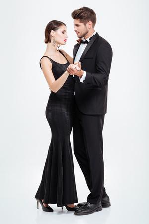 Photo pour Image of business people dancing. full length - image libre de droit