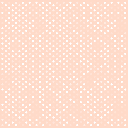 Ilustración de Seamless white polka dots pattern over pink. Vector illustration - Imagen libre de derechos