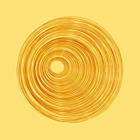 Ilustración de Spiral concentric lines. Abstract vector illustration - Imagen libre de derechos