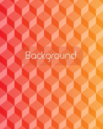 Ilustración de Abstract red gradient square mosaic background with place for your text. Vector illustration - Imagen libre de derechos