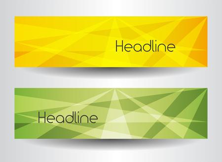 Ilustración de Corporate company brochure template set with abstract backdrop. Place for headline. Vector illustration - Imagen libre de derechos