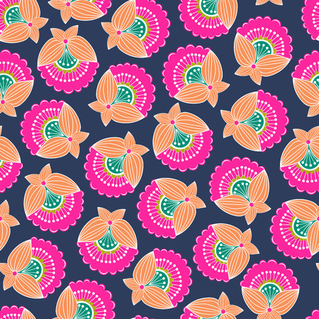 Illustration for Modern colorful abstract floral pattern. Vector illustration - Royalty Free Image
