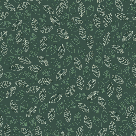 Illustration for Seamless contoured leaves pattern. Vector illustration - Royalty Free Image