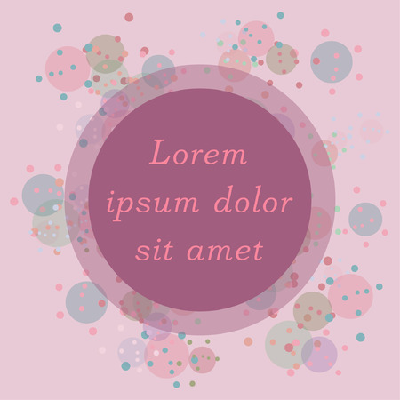 Illustration pour Colorful watercolor dot background with round blank frame and place for text. Vector illustration - image libre de droit