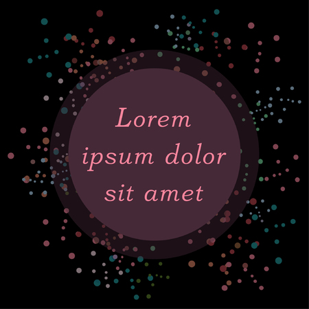 Illustration pour Abstract dot background with round blank frame and place for text. Vector illustration - image libre de droit