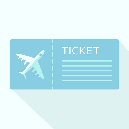 Illustration pour Airline boarding pass ticket for traveling by plane. Vector illustration - image libre de droit