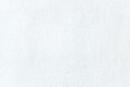 Foto de White linen fabric texture. White canvas background. Abstract woven surface. - Imagen libre de derechos